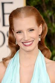 middle aged women thin hair jessica chastain oye vey with that middle part it draws