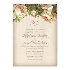 antique rose invitation with free response postcard ann u0027s bridal