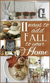 fall mantle scape and autumn home decor touches at www