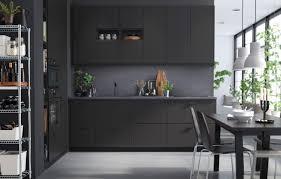 Ikea Wood Kitchen Cabinets by Kitchen Amazing Black Mate Stylish Ikea Wooden Kitchen Cabinet