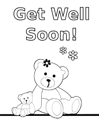 get well soon teddy clipart coloring get well soon teddy card