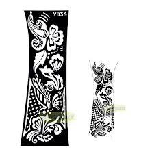 1pc fashion henna glitter personalizer style template
