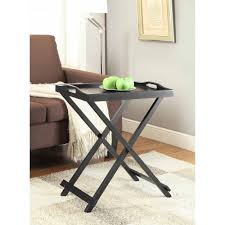 folding oversized wood tray table in espresso tips for choosing tray table blogbeen