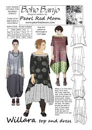 pattern art pdf willara top and dress pdf sewing pattern boho banjo art to wear