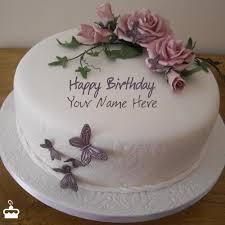 birthday flower cake birthday flower cake with name