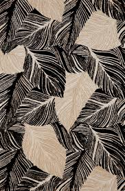 Black Outdoor Rugs by Cargo Banana Leaf Black White 487948 Rug From The Botanical Rugs