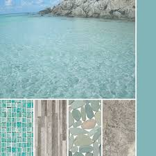 cool laguna green and grey for a tropical inspired palette