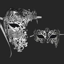 silver masquerade masks silver half skull metal prom venetian masquerade mask