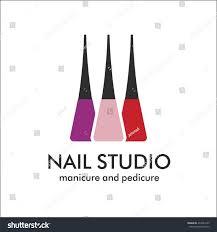 nail studio logo stock vector 474351643 shutterstock