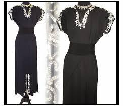 vintage 1940s 40s evening gown dress formal pinup sequin c u2026 flickr