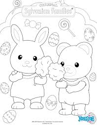 the sylvanian families celebrate easter coloring page crafty