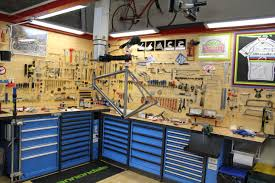 bucket list bike workshop at the back of coffee shop the