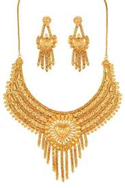 gold jewellery necklace sets images Variation south indian gold plated jewellery necklace set for jpg