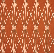 sale tangerine upholstery fabric dark orange ivory curtain