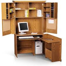 Sauder Armoire Computer Desk Sauder Computer Armoire Forest Collection Walmart