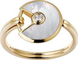 cartier rings gold images Crb4213300 amulette de cartier ring xs model yellow gold png