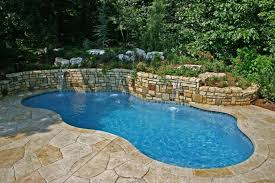 Small Backyard Swimming Pool Ideas with Small Backyard Inground Pool Design Inground Pool In Small