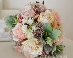 silk wedding bouquets silk flower bouquet etsy