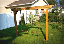 Backyard Cing Ideas For Adults Diy Swing Set 5 Ways To Make Your Own Bob Vila