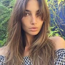 hairstyles with bangs and middle part the 25 best middle part bangs ideas on pinterest middle parting