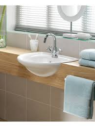 bathroom vanity with semi recessed basin google search