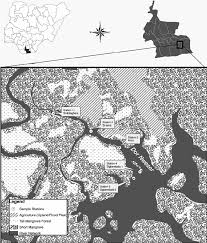 Coordinates Map Map Of Bodo Creek In The Niger Delta Nigeria For Sampling