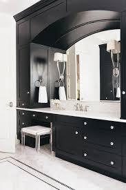 Polished Nickel Vanity Mirror White And Black Bathroom With Mosaic Marble Tile Backsplash