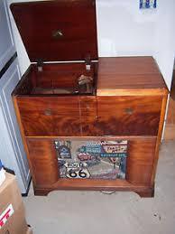 victrola record player cabinet vtg sharp htf rare victrola record player radio wood console stereo