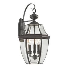 Discount Outdoor Wall Lighting - shop westmore lighting keswick 23 in h oil rubbed bronze outdoor