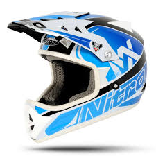 motocross helmets kids nitro raider junior blue black white motocross helmet childrens