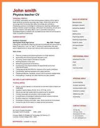 Resume Curriculum Vitae Example by 4 Example Of Curriculum Vitae For Job Application Bussines