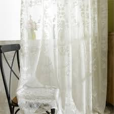 tulle curtains luxury embroidered white sheer curtain voile panel