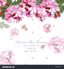 Borders For Wedding Invitation Cards Watercolor Pink Rose Flowers Card Vector Stock Vector 469375859