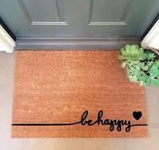 Hawaiian Doormats Be Happy Large Coir Doormat 24 X 35 We Take Pride In Our Work And
