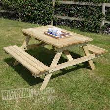 5ft picnic pub garden table bench westmount living