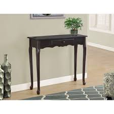 36 high console table including leick furniture whiteline modern