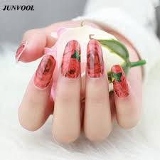 aliexpress com buy nail sticker red rose design flowers adhesive