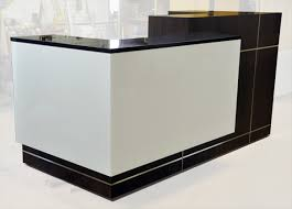 Reception Desk Black Arnold Reception Desks Inc Custom Anglo Bank New York