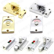 Bathroom Occupied Indicator Vacant Engaged Lock Ebay