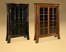 Wooden Bookcase With Glass Doors Bookcase With Sliding Glass Doors Juniorderby Me