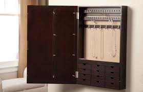 Jewelry Storage Cabinet Wall Mounted Jewelry Storage Cabinet Storage Designs