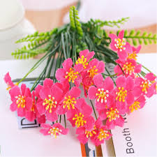 plastic flowers 4 pcs artificial green plants grass floral plastic flowers