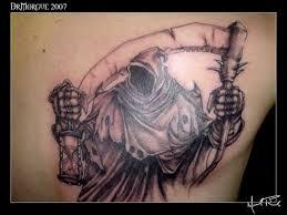 angel of death tattoos foot tattoos design