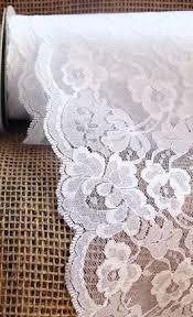 burlap and lace ribbon white lace ribbon 5 5 inch x 10 yard roll