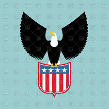 Flags American Eagle And Shield With Usa Flag American National Symbol Royalty