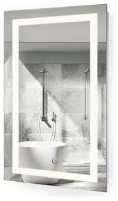 bathroom mirror defogger led wall mounted mirror with defogger and dimmer 18 x30 for