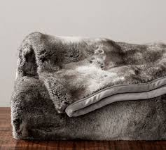 fur throws for sofas faux fur throw gray ombre pottery barn