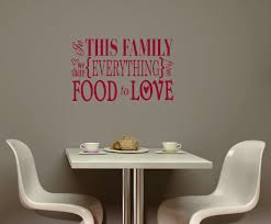 family share everything food love kitchen vinyl wall sticker decals