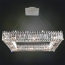 Square Chandelier Sparkling Block Square Chandelier 12 Light Shades Of Light