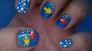 fish nail art design tutorial youtube